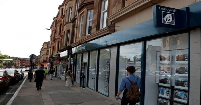FILE PHOTO: A Countrywide estate agency is seen in the West End of  Glasgow, Scotland
