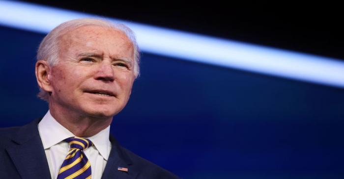 FILE PHOTO: U.S. President-elect Joe Biden delivers remarks on the U.S. response to the