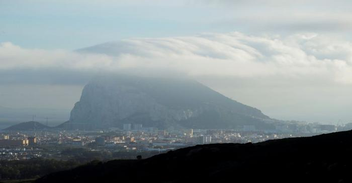 FILE PHOTO: The Rock of Gibraltar is pictured from La Linea de la Concepcion