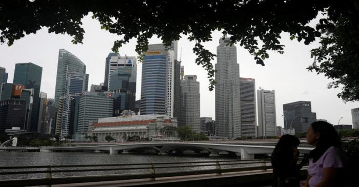 View of Singapore skyline, amid the coronavirus disease (COVID-19) outbreak