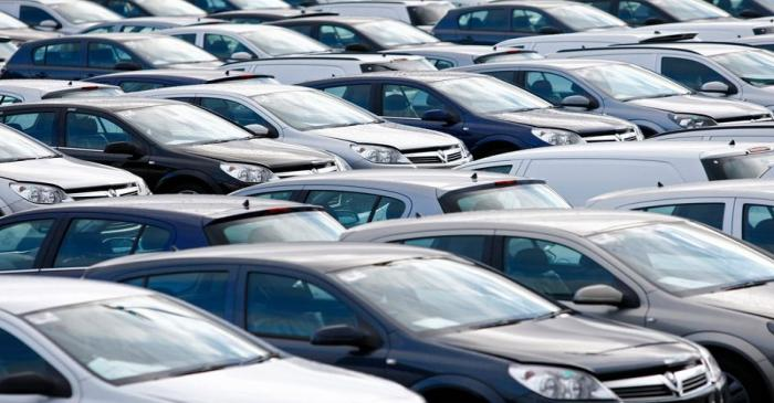 File photograph shows new Vauxhall cars standing outside the company's factory in Ellesmere