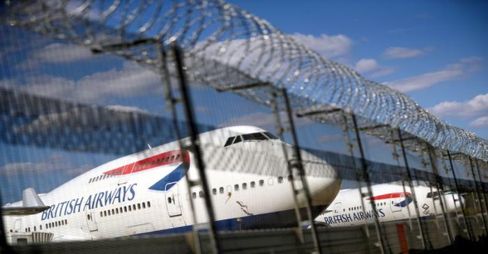 FILE PHOTO: British Airways planes are seen at the Heathrow Airport in London