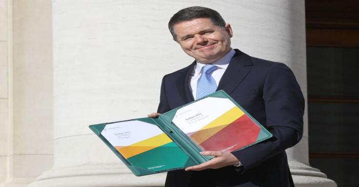 Irish Finance Minister Paschal Donohoe presents Budget 2021 in Dublin