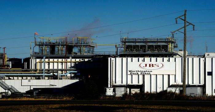 FILE PHOTO: JBS USA Worthington pork plant as COVID-19 cases surge in Minnesota