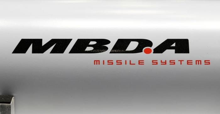 The logo of MBDA Missile Systems is seen at Euronaval, the world naval defence exhibition in Le