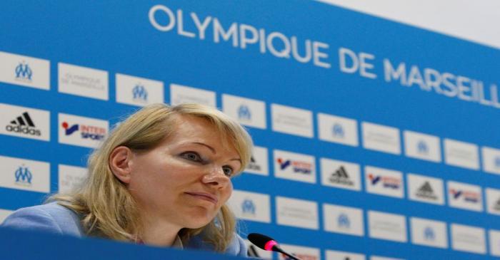 Olympique de Marseille's majority owner, billionaire businesswoman Margarita Louis-Dreyfus
