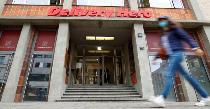The Delivery Hero headquarters are pictured in Berlin