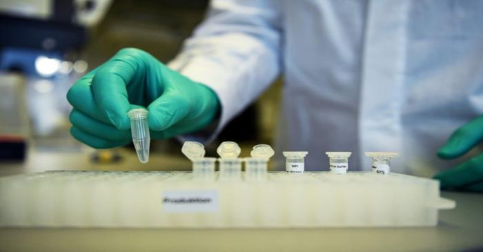 FILE PHOTO: Employee Philipp Hoffmann, of German biopharmaceutical company CureVac,