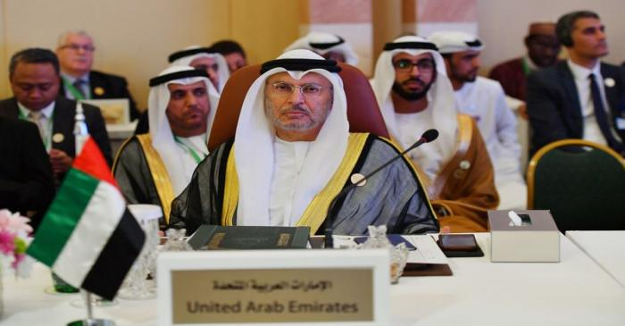 UAE Minister of State for Foreign Affairs Anwar Gargash is seen during preparatory meeting for