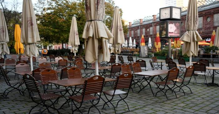 FILE PHOTO: First day of temporary closing of restaurants in Berlin