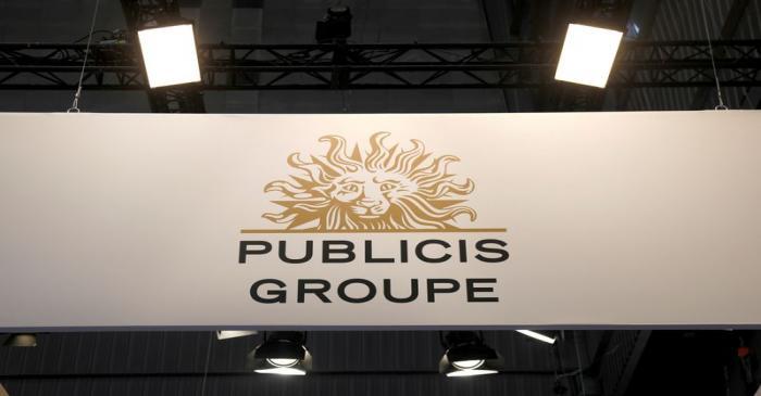 FILE PHOTO: Logo of Publicis is seen at VivaTech fair in Paris