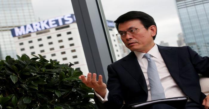 Hong Kong Commerce and Economic Development Secretary Edward Yau speaks in Hong Kong