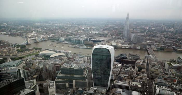 A general view of London is seen from the construction site of 22 Bishopsgate in London