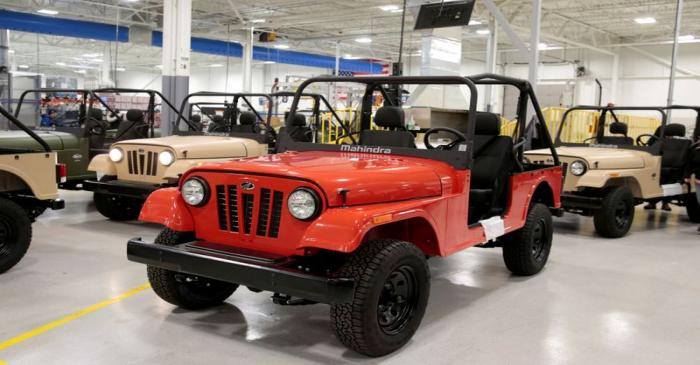 FILE PHOTO: ROXOR off-road vehicles are seen in the Mahindra Automotive North America assembly