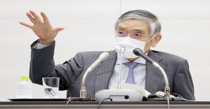 Bank of Japan Governor Haruhiko Kuroda speaks during a news conference, in Tokyo
