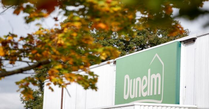 A view shows a logo of a Dunelm store in St Albans