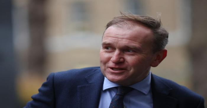 Britain's Environment, Food and Rural Affairs Secretary George Eustice arrives at Downing