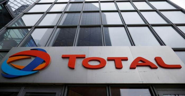 The logo of French oil and gas company Total