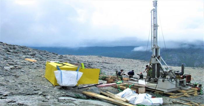 FILE PHOTO: A view shows exploration drilling at the the Kringlerne rare earth deposit, near