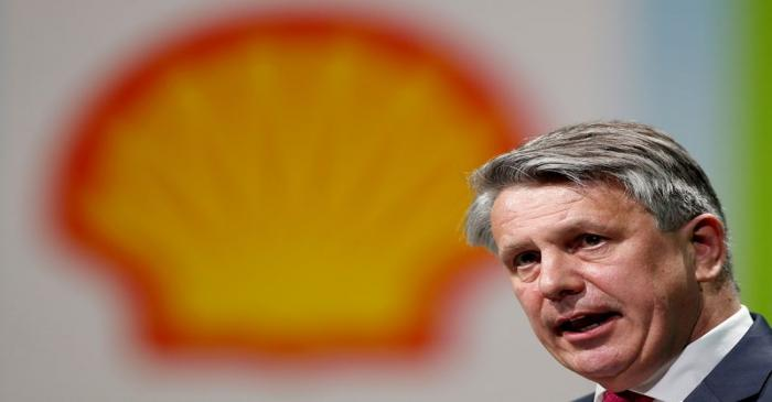 FILE PHOTO: Royal Dutch Shell CEO van Beurden speaks during the 26th World Gas Conference in