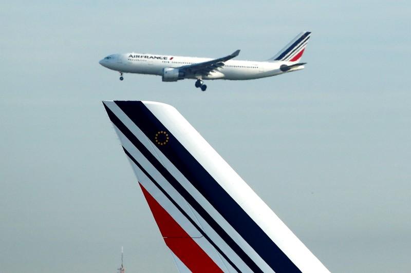FILE PHOTO: An Air France Airbus A330 airplane lands at Charles de Gaulle Airport near Paris