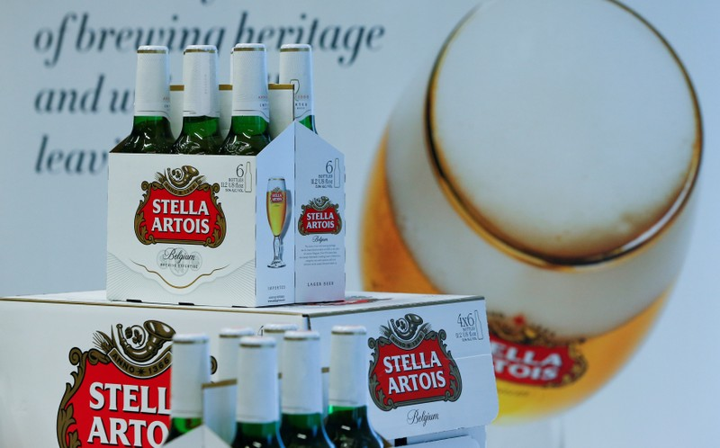FILE PHOTO: Stella Artois bottles