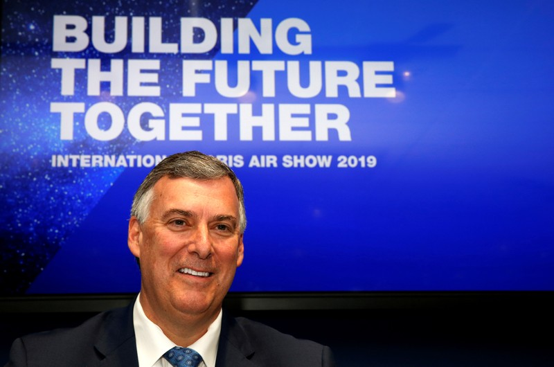 FILE PHOTO: Boeing Commercial Airplanes CEO Kevin McAllister attends the 737 MAX 8 commercial