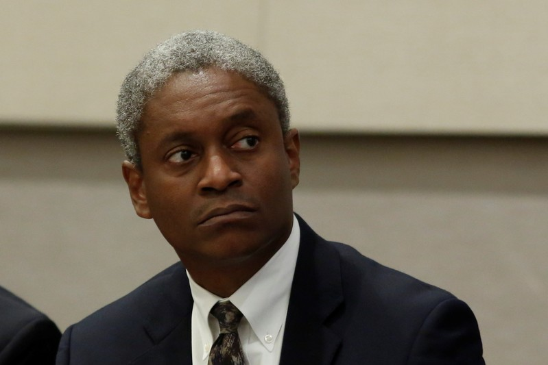 Federal Reserve Bank of Atlanta President Raphael Bostic participates in a panel discussion in