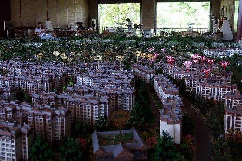 Model showing property project
