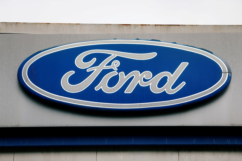 FILE PHOTO: The Ford logo is seen at the Ford oldest Brazil plant after company announced its