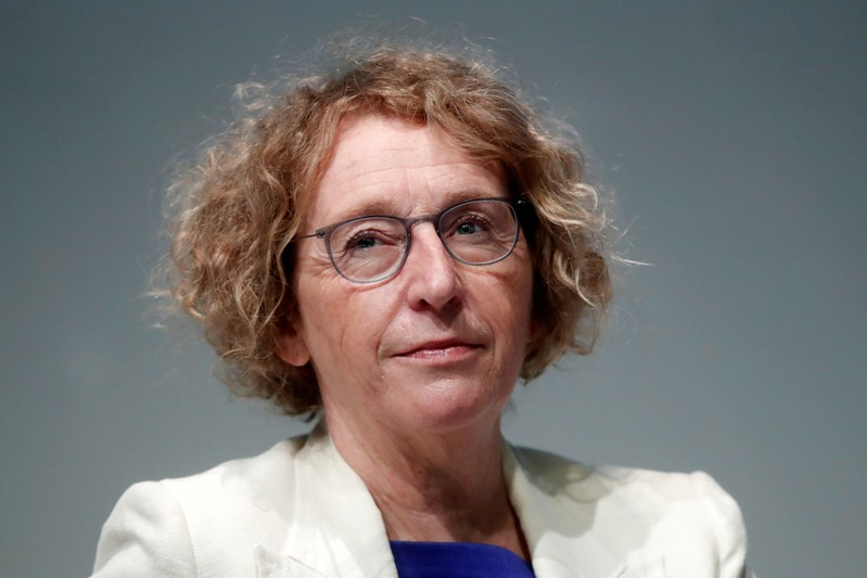 FILE PHOTO: French Labour Minister Muriel Penicaud attends the MEDEF union summer forum on the