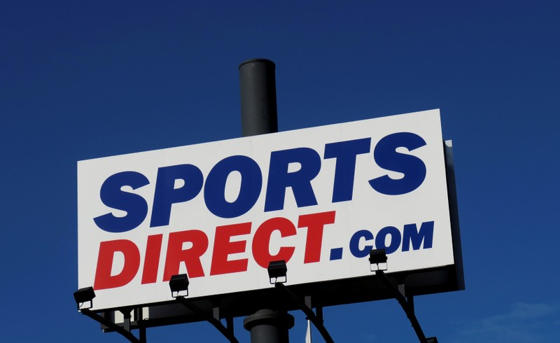 Company logo is seen outside a Sports Direct store in Vienna