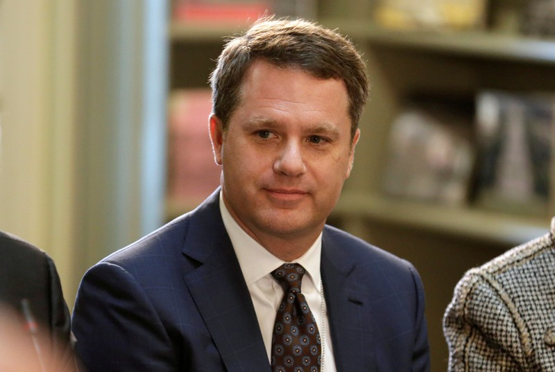 FILE PHOTO: CEO of Walmart Doug McMillon, pictured during a discussion in Washington, April 11,