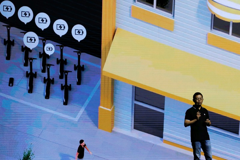 Ninebot President Wang Ye unveils semi-autonomous scooter KickScooter T60 that can return