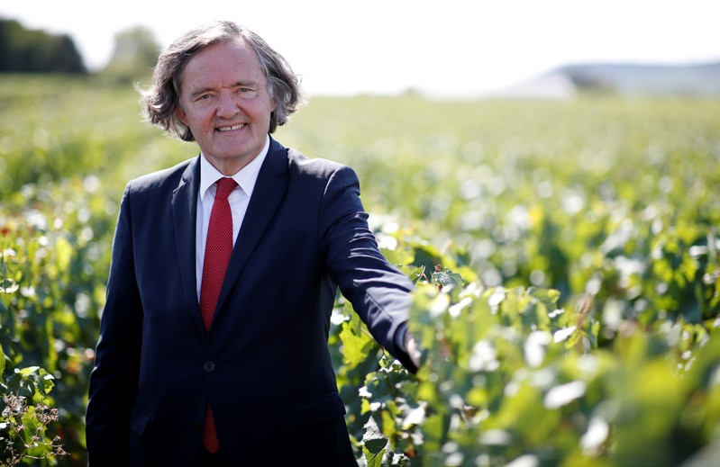 Pierre-Emmanuel Taittinger, President of the Champagne House Taittinger, poses during an