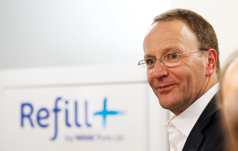 Swiss food giant Nestle CEO Schneider attends the inauguration ceremony of the Nestle Institute