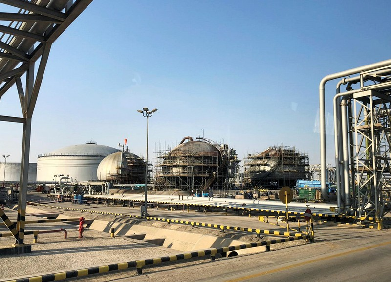 A general view of the damaged site of Saudi Aramco oil facility in Abqaiq