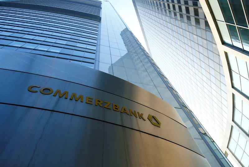 FILE PHOTO: The headquarters of the Commerzbank are pictured before the bank's annual news