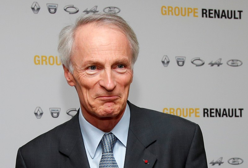 Chairman of Renault SA Jean-Dominique Senard attends a news conference at French carmaker