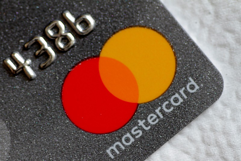 FILE PHOTO: A Mastercard logo is seen on a credit card in this picture illustration