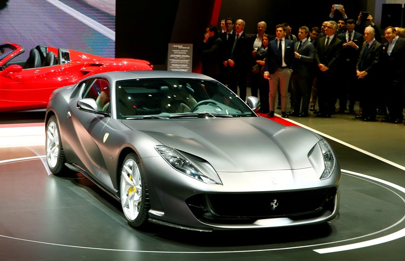 FILE PHOTO: A Ferrari 812 Superfast is seen during the 87th International Motor Show at Palexpo