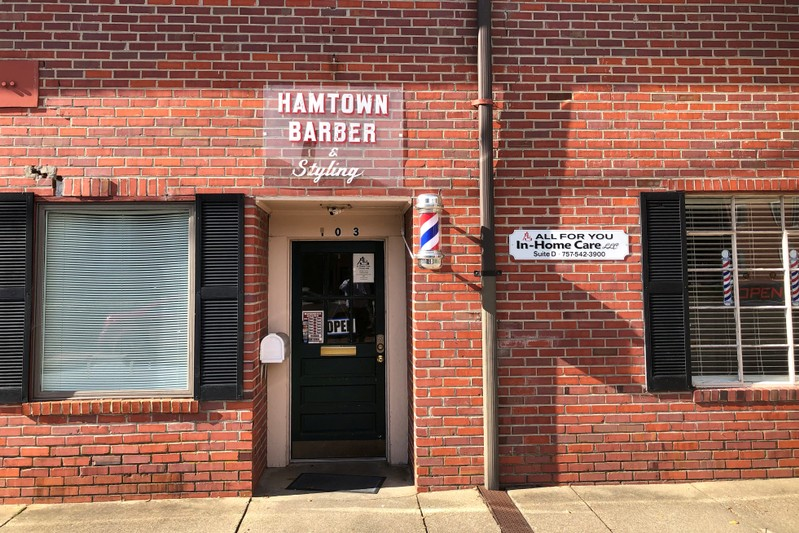 Hamtown Barber & Styling is seen in the self-proclaimed ham capital of America, in Smithfield