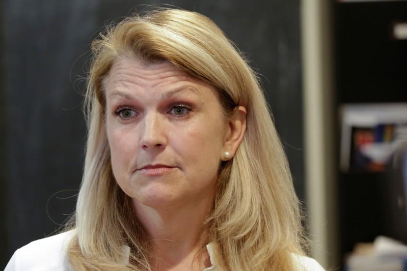 Kristen Smith, mother of William Smith, is interviewed by Reuters in Newburyport