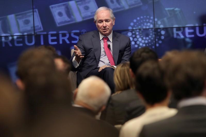Blackstone CEO Steve Schwarzman speaks at a Newsmaker