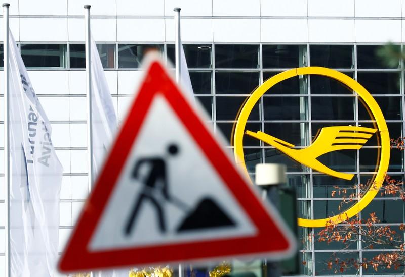 Strike of Germany's cabin crew union UFO at Frankfurt airport