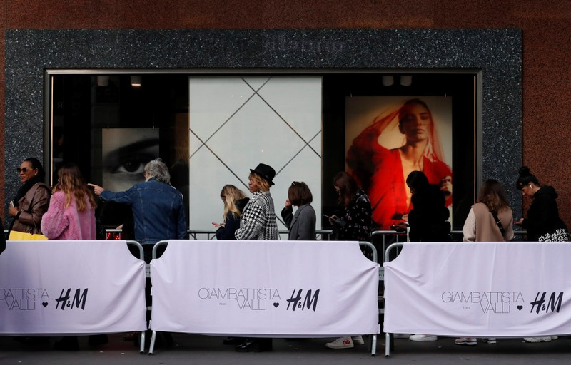 The launch of a collection by Italian designer Giambattista Valli for H&M in Paris
