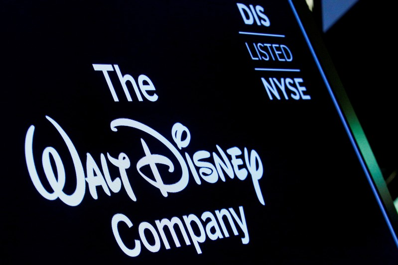 FILE PHOTO: A screen shows the trading info for The Walt Disney Company company on the floor of