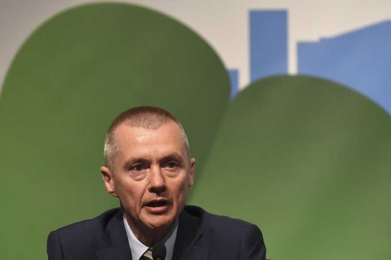 Willie Walsh, CEO of International Airlines Group speaks during the closing press briefing at