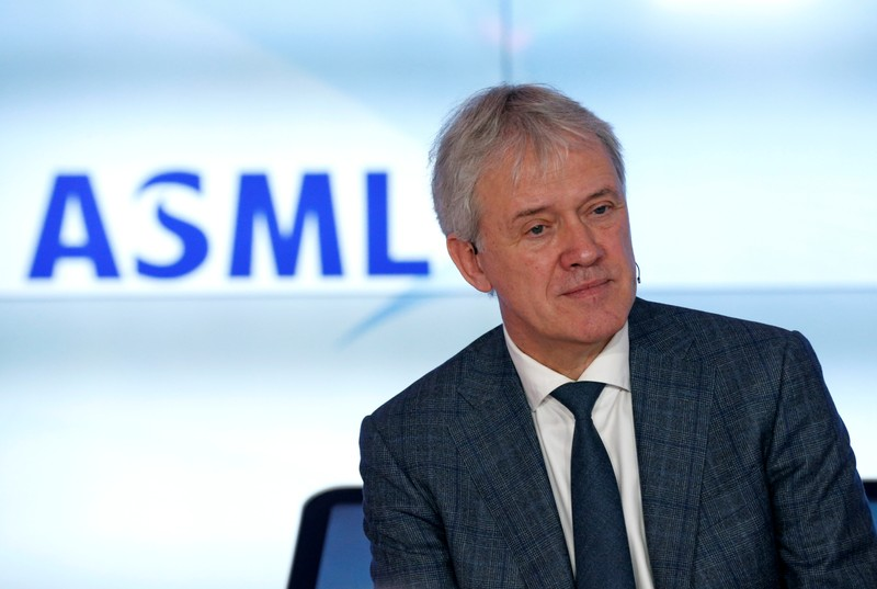 ASML Holding CEO Peter Wennink attends a news conference after fourth quarter earnings, in