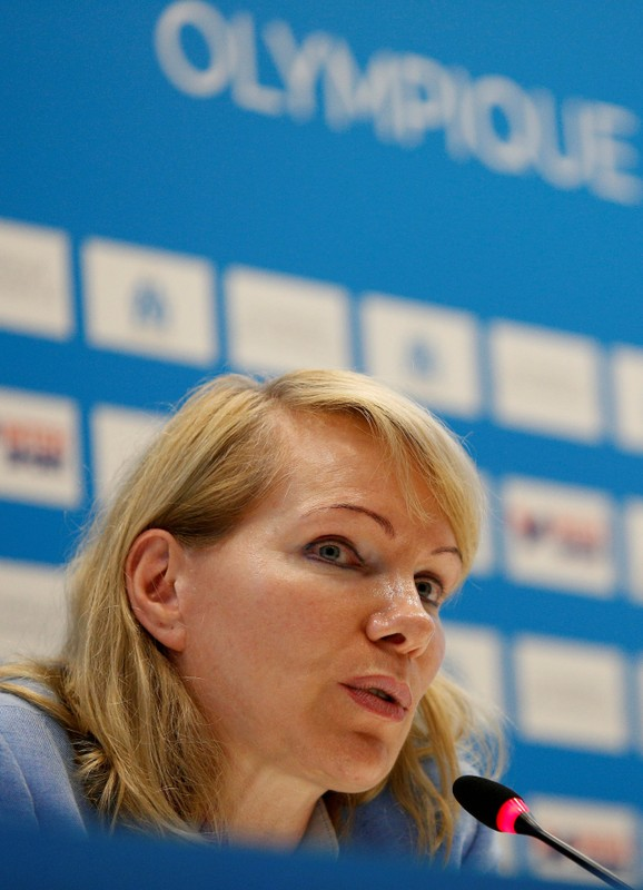FILE PHOTO: Billionaire businesswoman Margarita Louis-Dreyfus attends a news conference in the